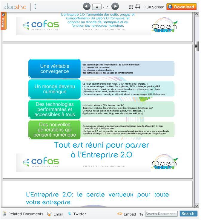 Télécharger la présentation de OPen HRM de Cofas (.pdf 27p)