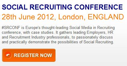 Social Recruiting Conference 30th June 2011, London : register now – 20% discount with this code