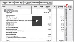 Bulletin de paie simplifié