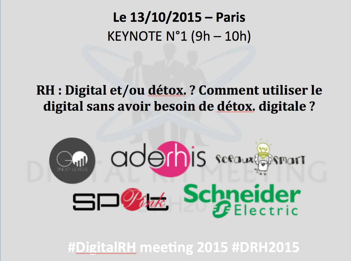 Congrès Digital RH Paris 2016 Keynote n°1