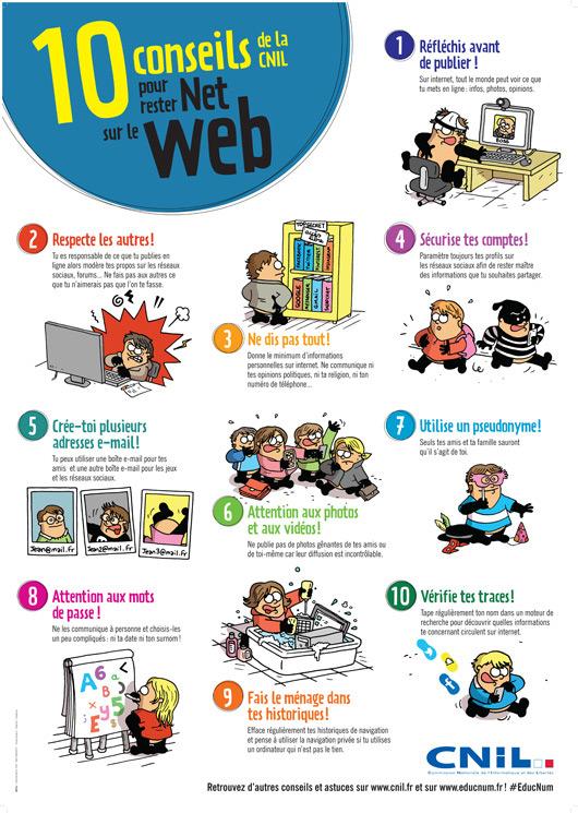 10 conseils de la CNIL pour rester net sur le web