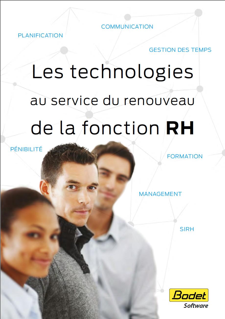 Couverture Livre Blanc de Bodet Software Technologies au service du renouveau de la fonction RH